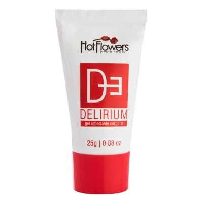 Delirium Gel Excitante Lubrificante Unissex 25g - Hot Flowers
