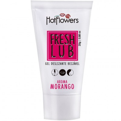 Fresh Lub Gel Lubrificante Beijável Morango - 25g - Hot Flowers
