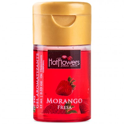 Gel Comestível Aromatizante Hot - Morango - 15ml