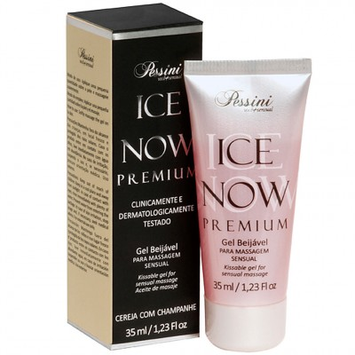 Ice Now Premiun Gel Beijável para Massagem Sensual Cereja com Champanhe 35ml - Pessini