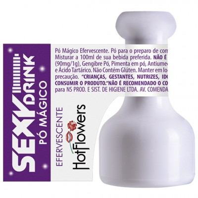 Sex Drink Pó Mágico Efervescente - 1g - Hot Flowers