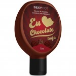 Mousse Comestível para Massagem Eu Amo Chocolate Sexy Hot - Chocolate Trufa - 30ml